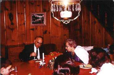 Our grandparents, Forrest and Helen Hays in the dining room